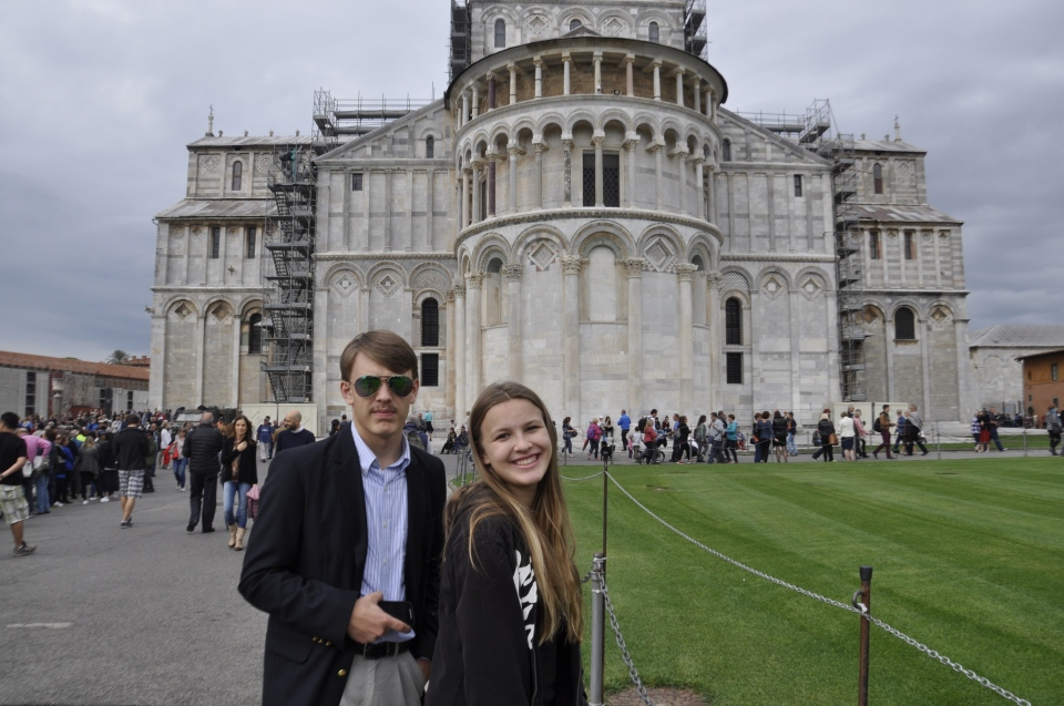 Fritz and Katie on the back side of the Duomo