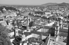Looking down on Salzburg